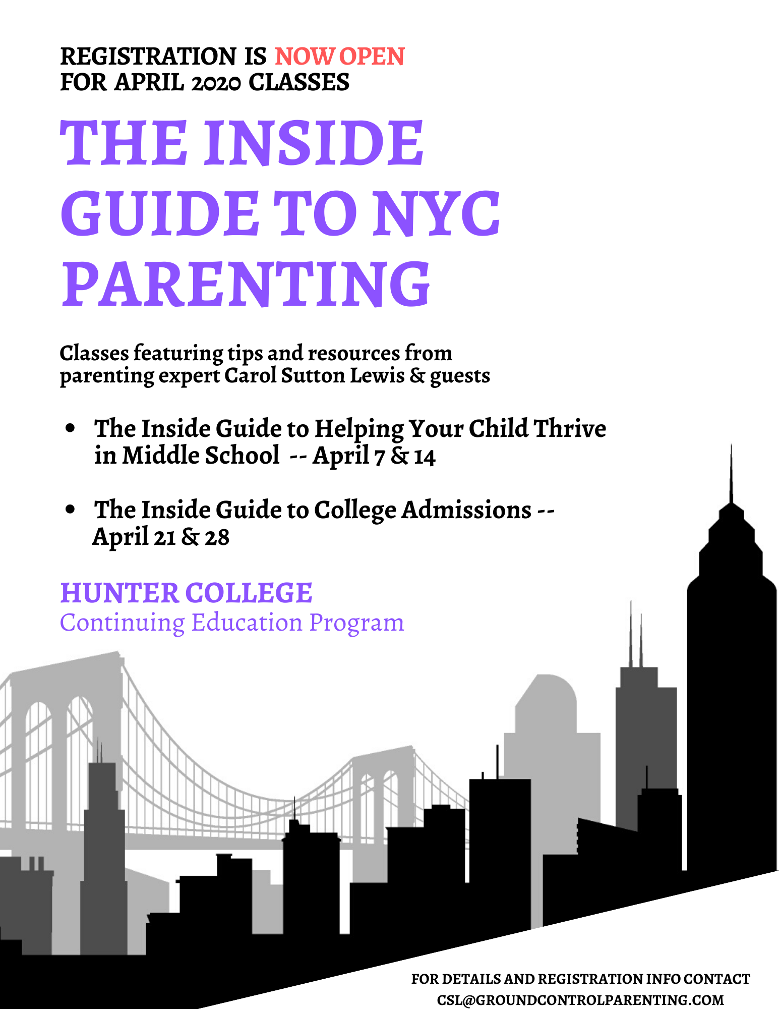 The Inside Guide to NYC Parenting – Back in April 2020!
